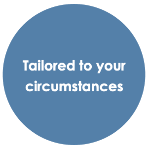 We Tailor Finance To Your Circumstances