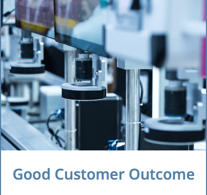 Good Customer Outcome Financing Specialised Equipment